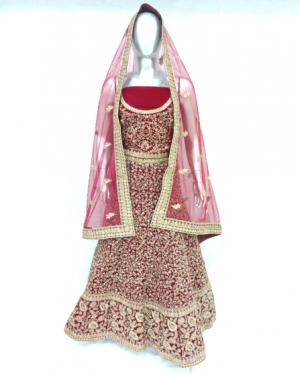 MAROON COLOR BRIDAL LEHENGA