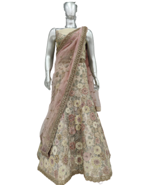 PEACH COLOR BRIDAL LEHENGA