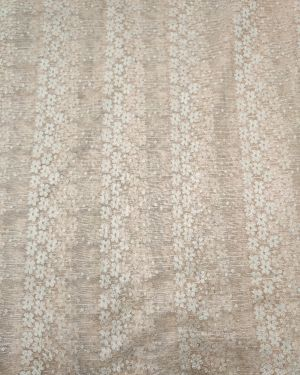 PEACH COLOR LACE NET FABRIC