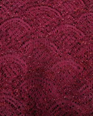 MAROON LACE FABRIC