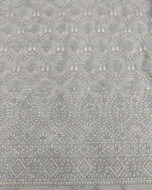GREY ORGANZA FABRIC