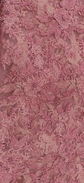 PINK BEAD WORK FABRIC